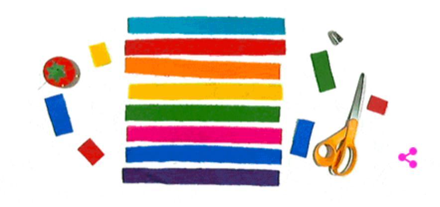 Googleロゴ「ギルバート・ベイカー」に(レインボーフラッグのデザイナー)
