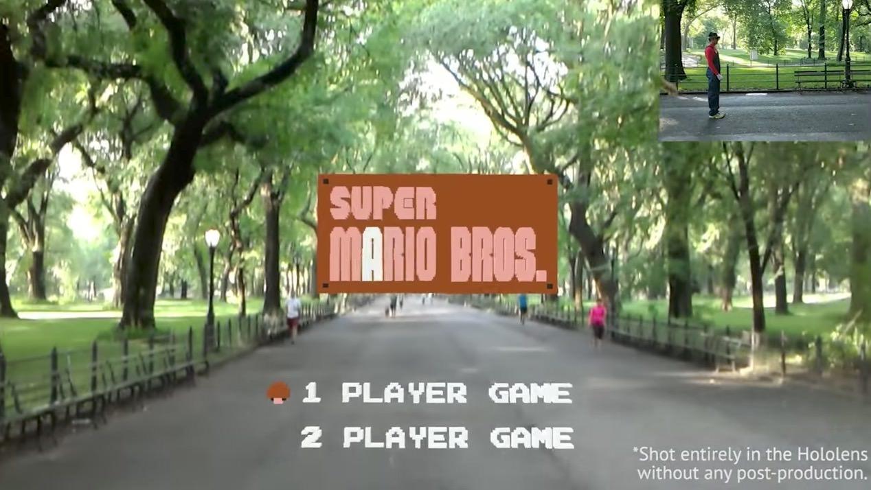 【動画】もしもスーパーマリオがAR(拡張現実)ゲームになったら?