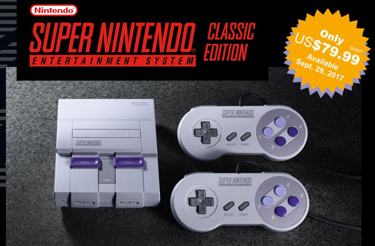 任天堂が「Super NES Classic Edition(ミニスーファミ)」発表 〜日本では2017年10月5日発売