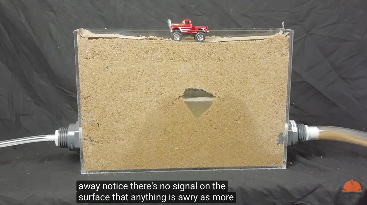 突然地面が陥没する「シンクホール」ができる仕組みを解説した動画