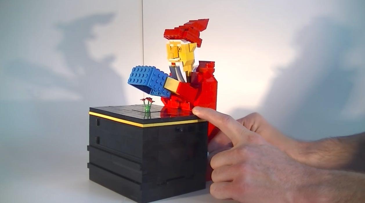 【動画】手品を披露するレゴ製オートマタが凄い(種明かしあり)