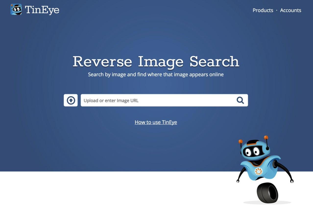 「TinEye」画像の出典を検索することができる画像検索サービス