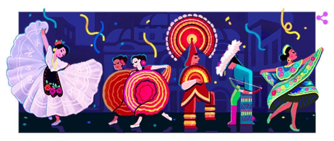 Googleロゴ「アメーリア・ヘルナンデス(Amalia Hernandez)」に(バレエ振付師)