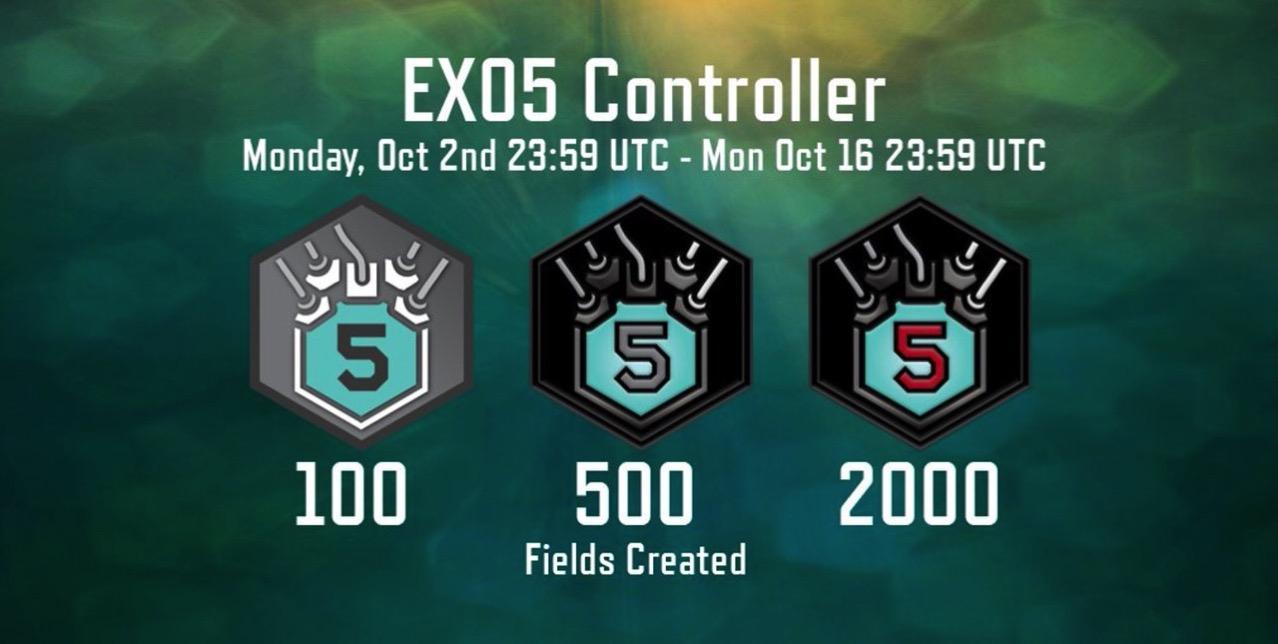 【Ingress】CFを作りまくってゲットする期間限定メダル「EX05 Controller」(10/2〜16)