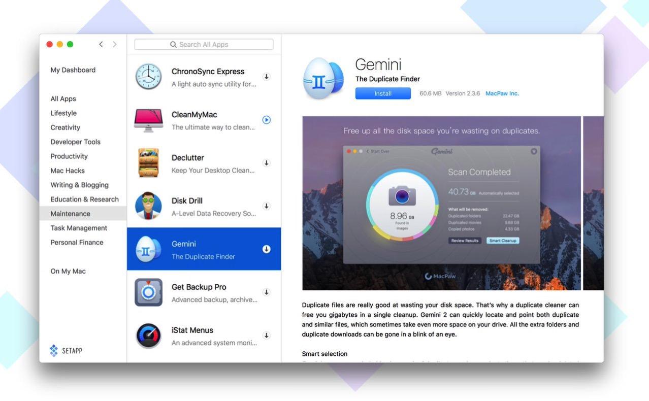 Macアプリの月額定額制サービス「Setapp」