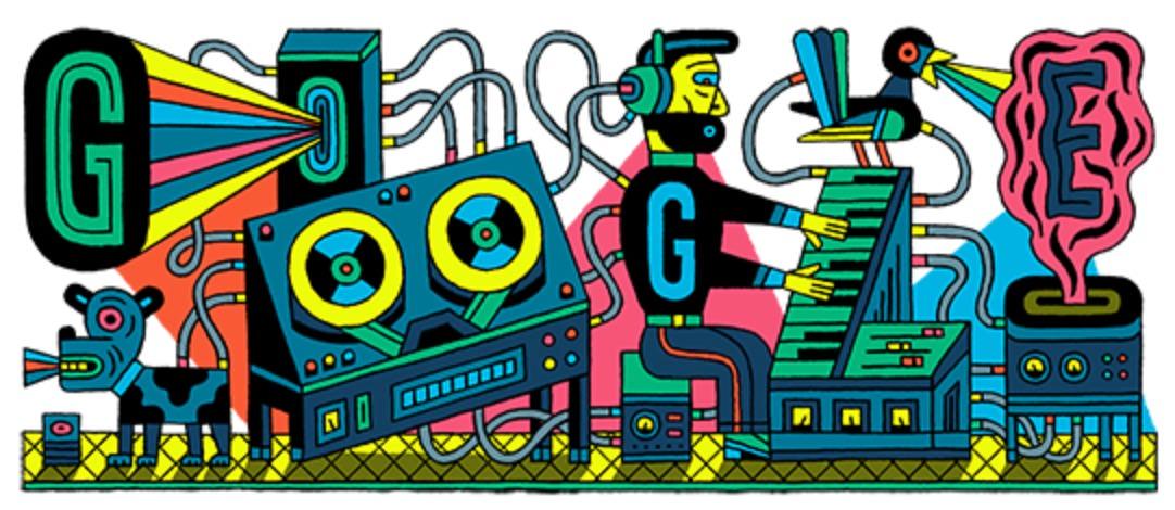 Googleロゴ「エレクトロニック ミュージック スタジオ」に