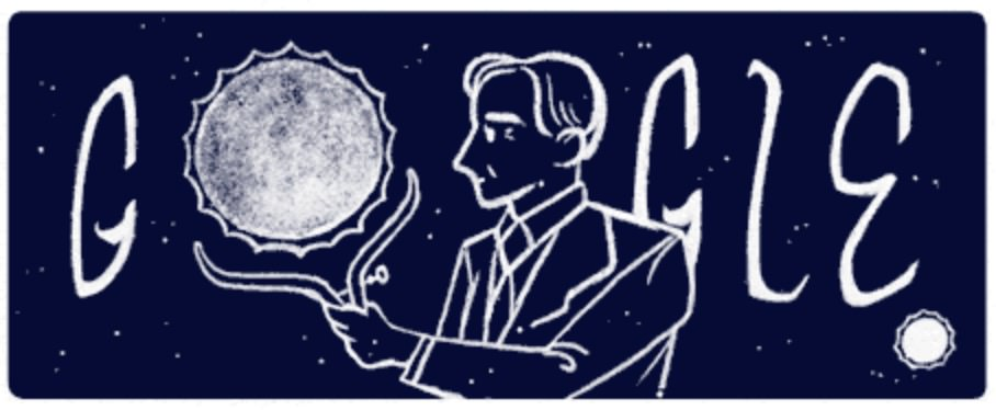 Googleロゴ「スブラマニアン チャンドラセカール」に(天体物理学者)