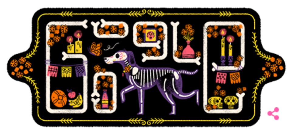 Googleロゴ「Day of the Dead(死者の日)」に