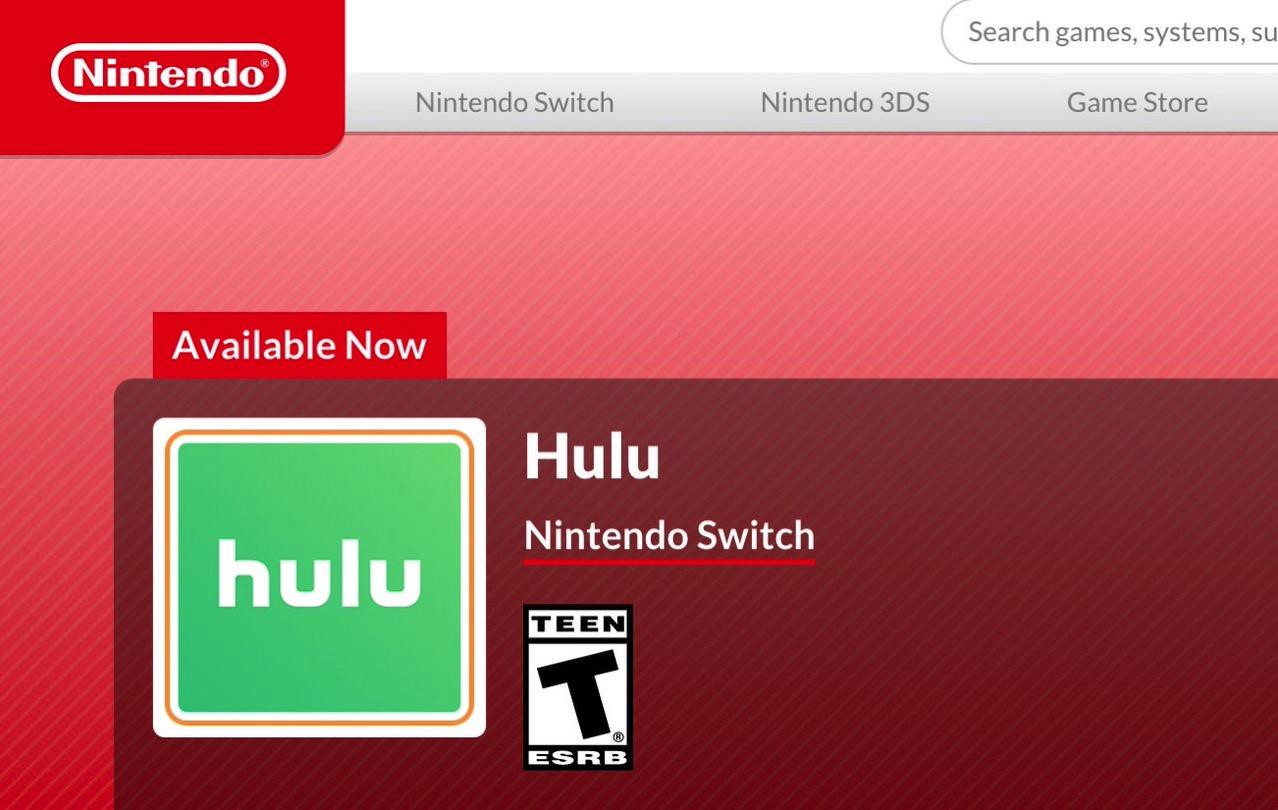 【Switch】北米で「Hulu」アプリがリリース