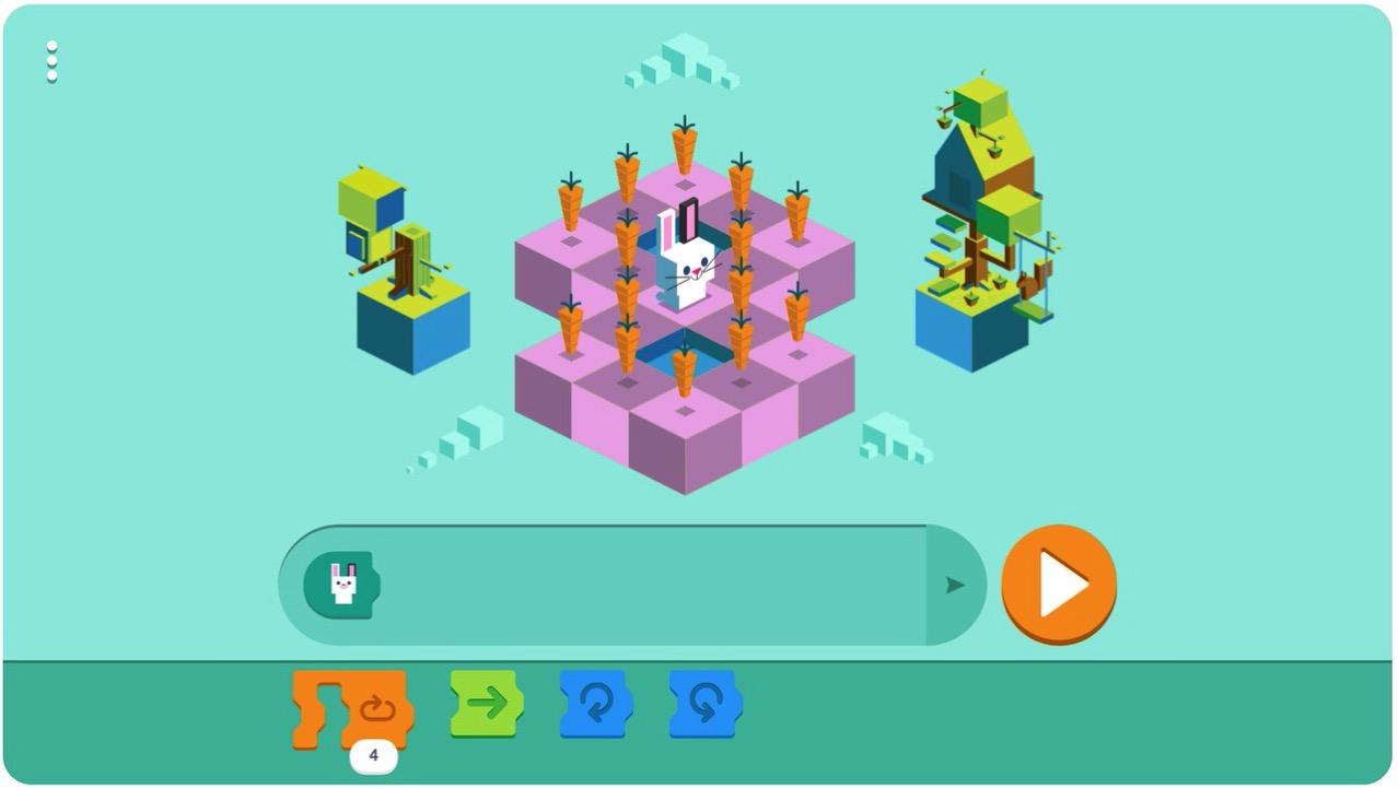 Googleロゴ「子供向けコーディング言語」に 〜遊びながら学べる