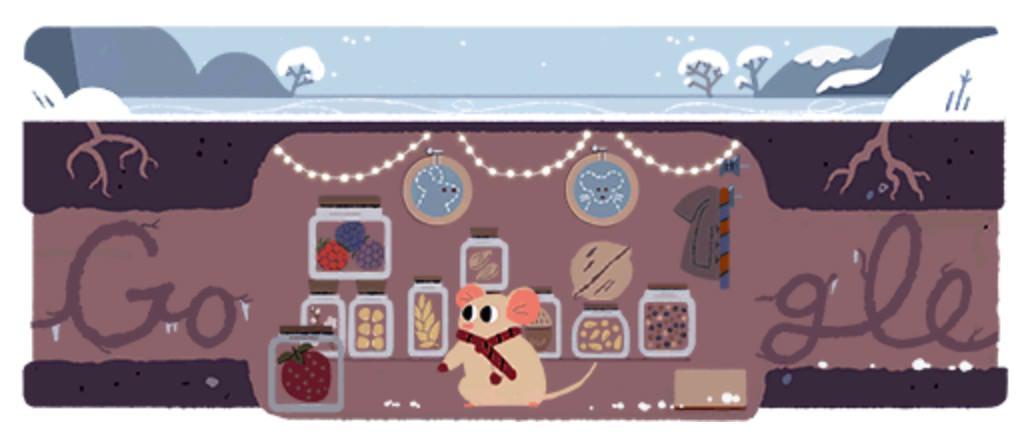 Googleロゴ「冬至  2017」に