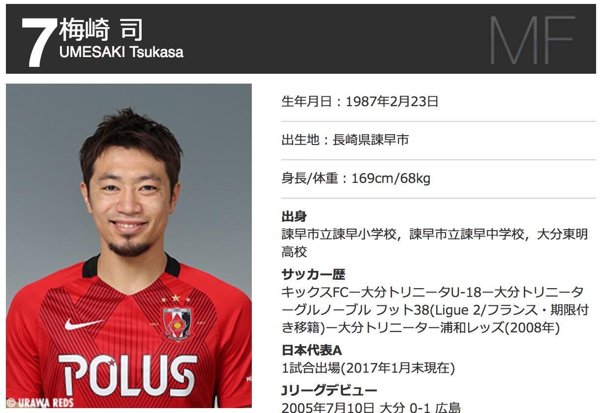 浦和レッズ・梅崎司、湘南ベルマーレへの移籍が濃厚