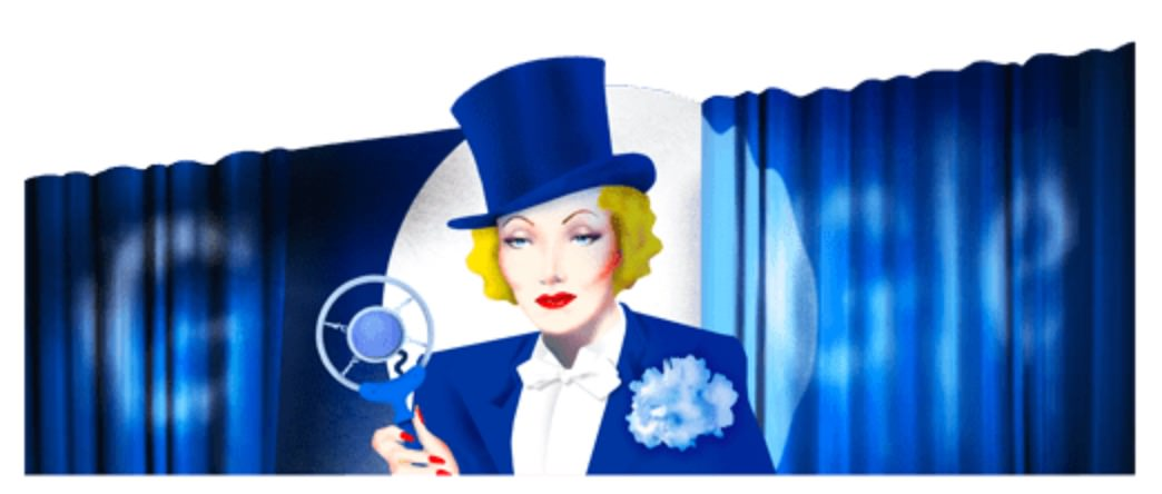 Googleロゴ「マレーネ ディートリヒ」に(女優・歌手)