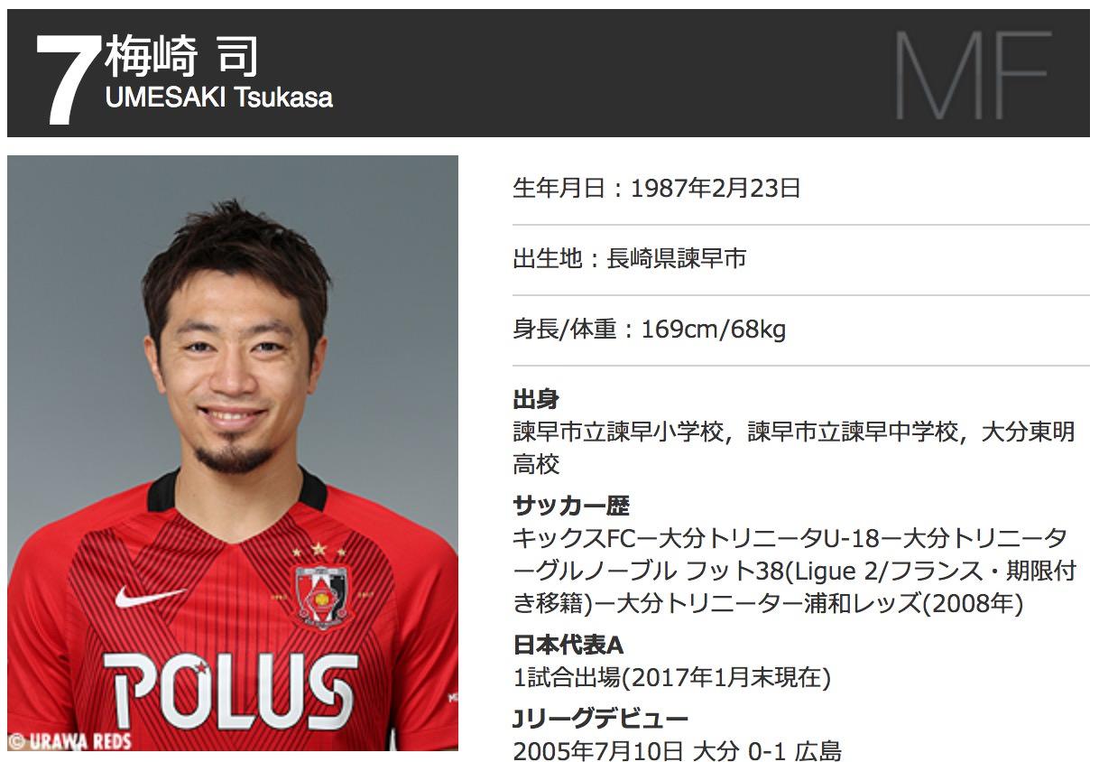 浦和レッズ・梅崎司、湘南ベルマーレへ完全移籍