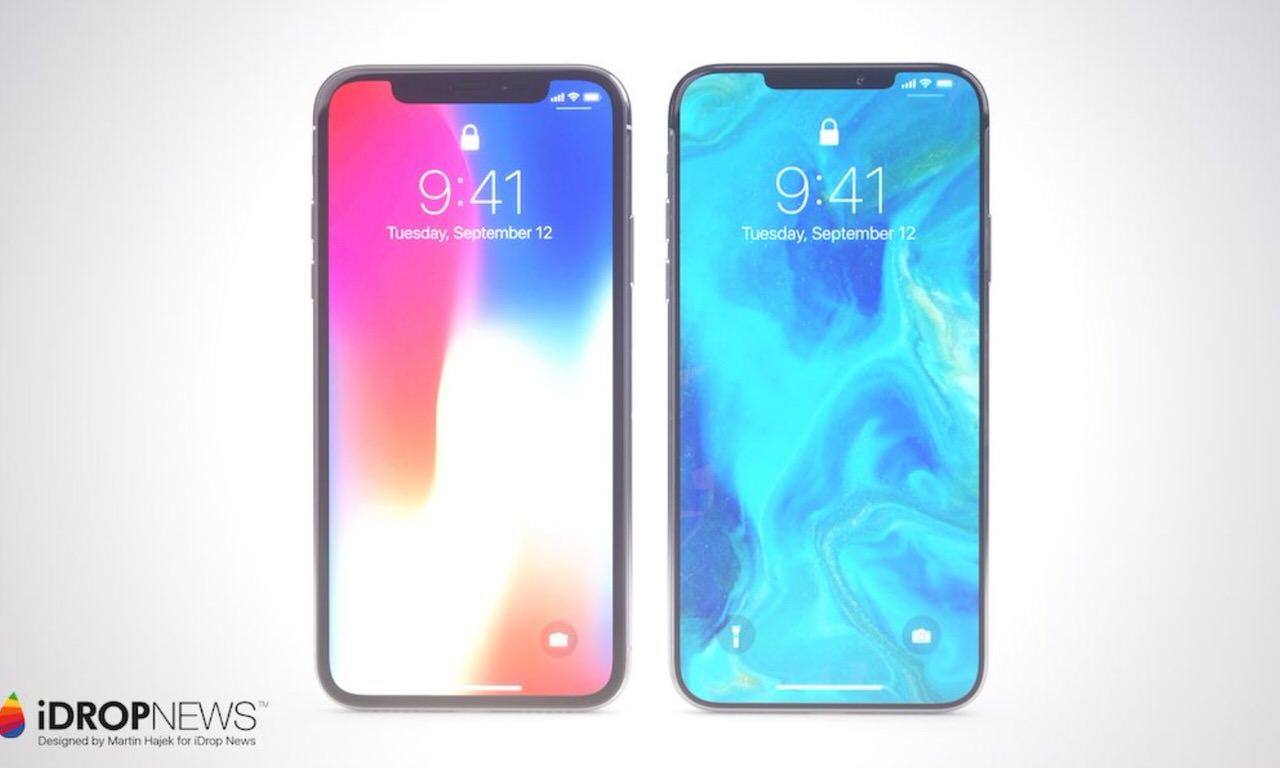 【iPhone X】ノッチ(切り欠き)が小型化したコンセプトモデル画像