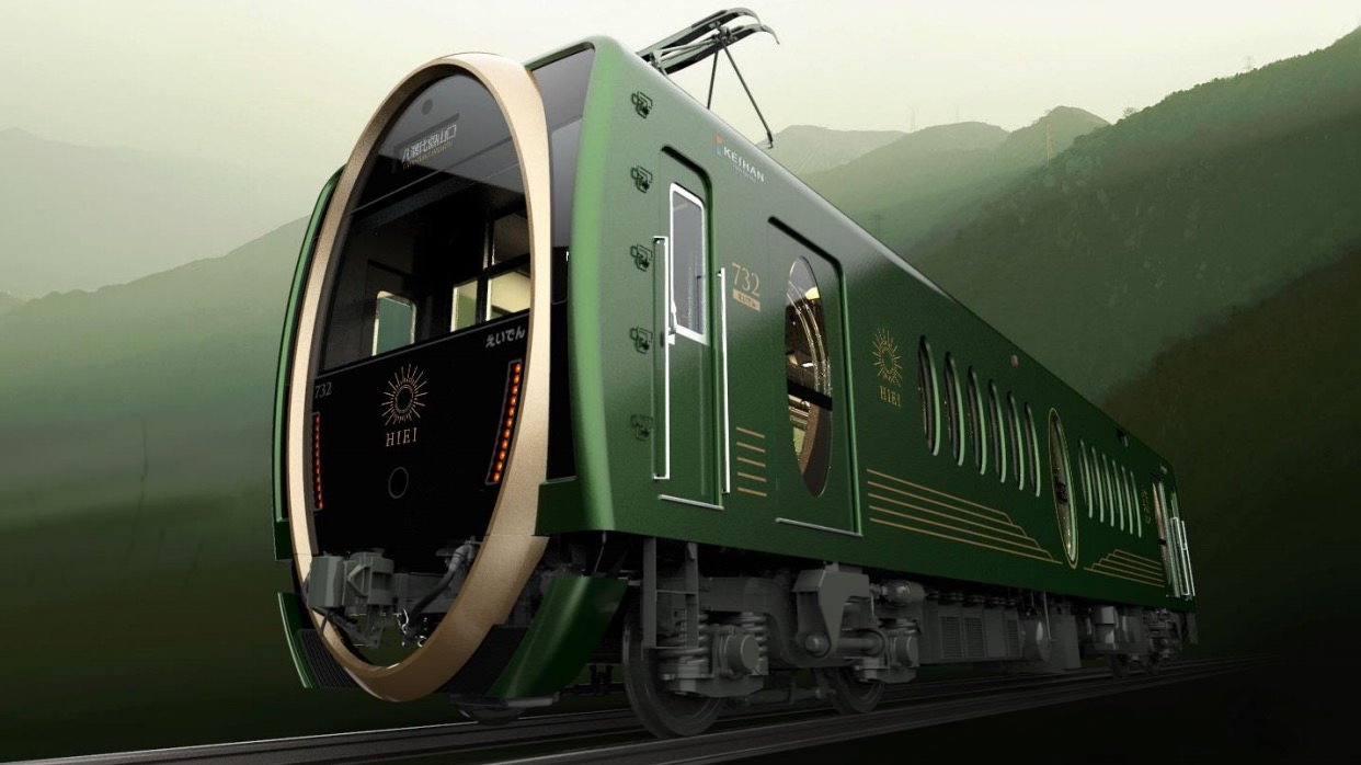 叡山電車の観光用車両「ひえい」2018年3月21日にデビュー