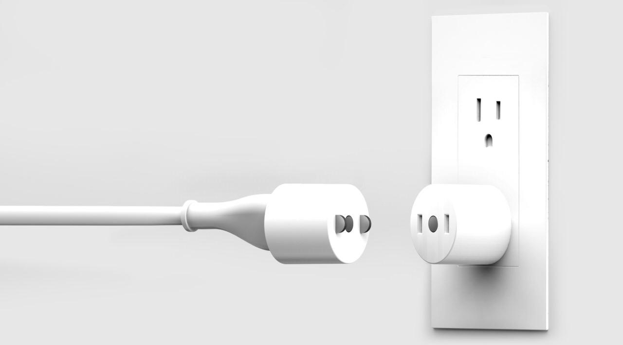 AppleのMagSefeのように外れる電源コンセント「Tug」
