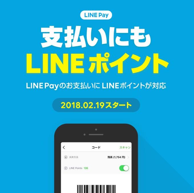【LINE Pay】支払い時にLINEポイントも利用可能に
