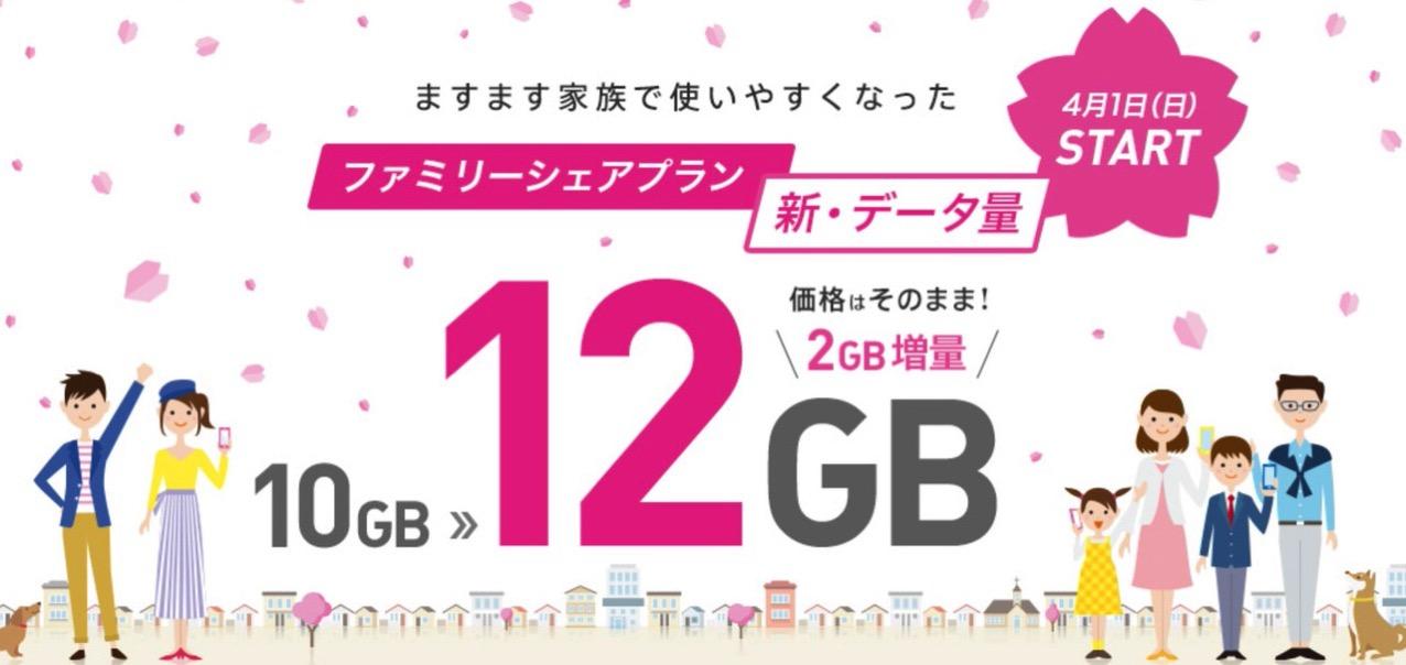 【IIJmio】「ファミリーシェアプラン」10GB → 12GBに増量