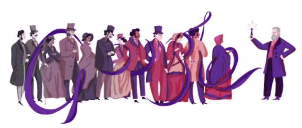 Googleロゴ「ウィリアム パーキン」に(化学者)