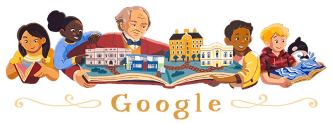 Googleロゴ「ジョージ ピーボディ」に