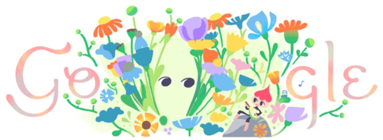 Googleロゴ「2018年 春分」に