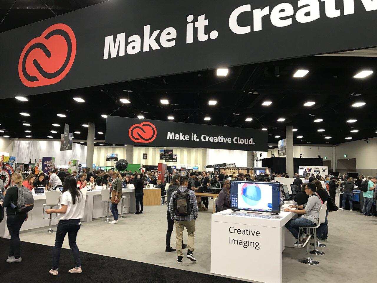「Adobe MAX 2016」パビリオンの様子 #AdobeMAX