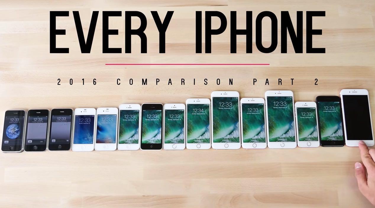 【動画】歴代iPhone全15モデルのパフォーマンスを比較した動画