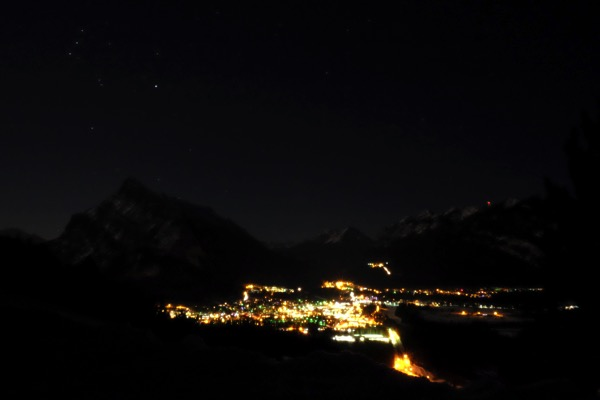 Banff night sky 3823