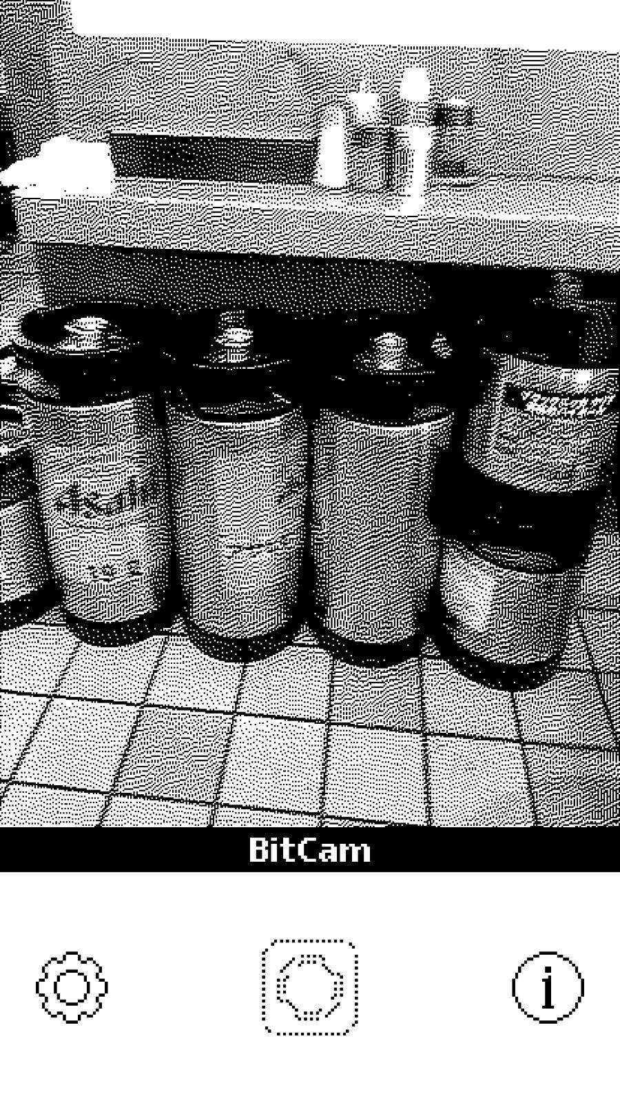「BitCam」白黒8bitなピコピコ写真を撮影する無料のiPhoneアプリ