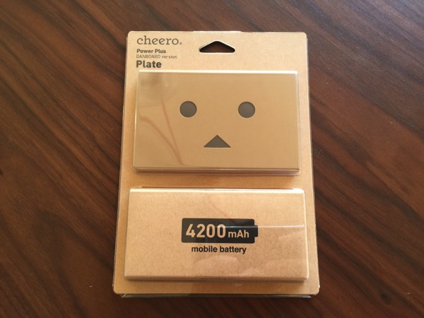 薄いダンボーバッテリーが登場!「cheero Power Plus DANBOARD version -Plate- 4200mAh」