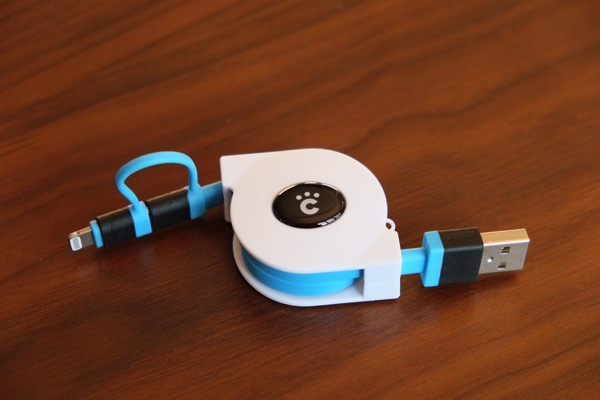 LightningとmicroUSBに対応した巻取り式ケーブルの決定版!?「Cheero 2 in 1 Retractable USB Cable」