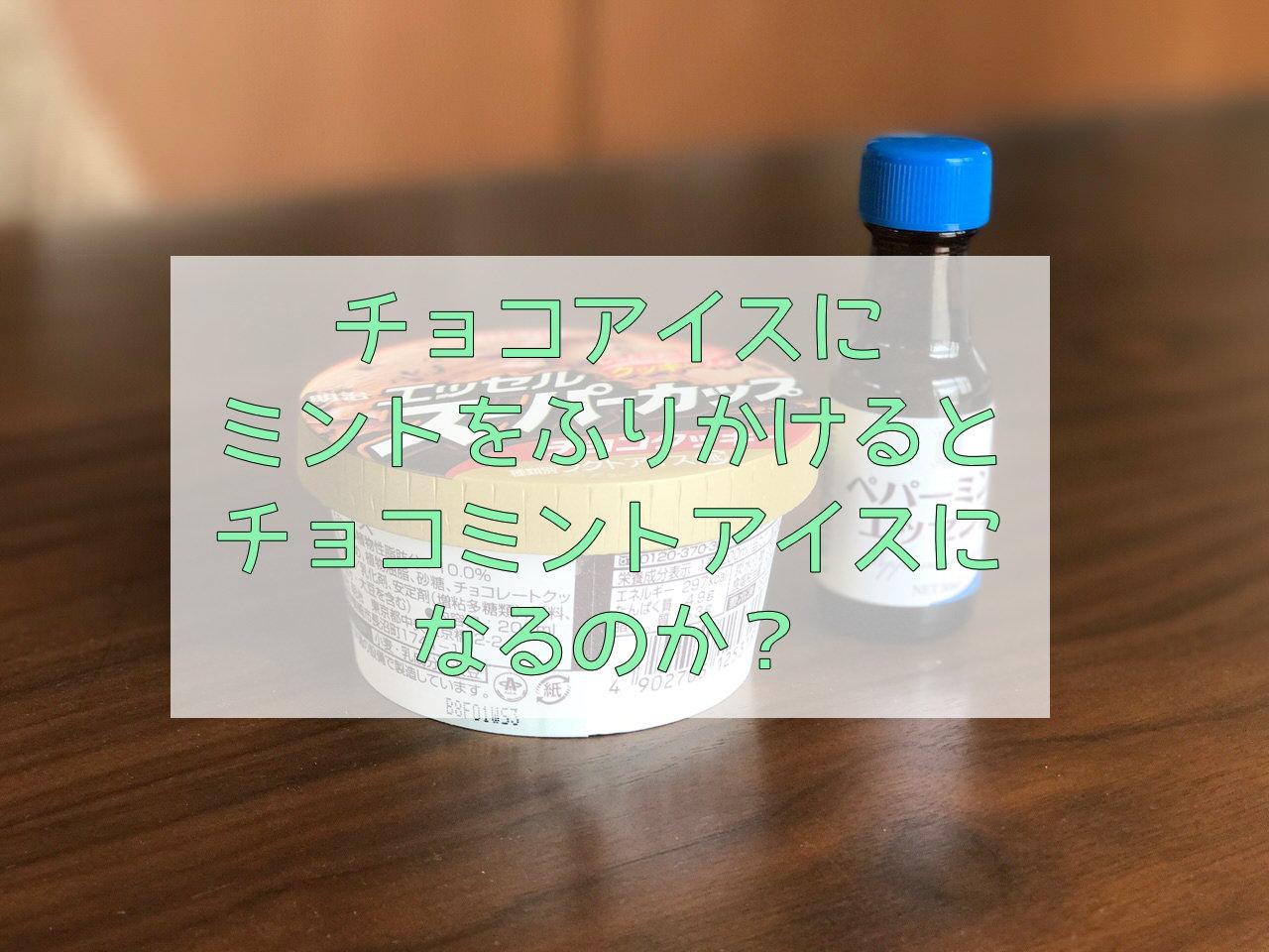 【実験】チョコアイス+ミントエッセンス=チョコミントアイス?