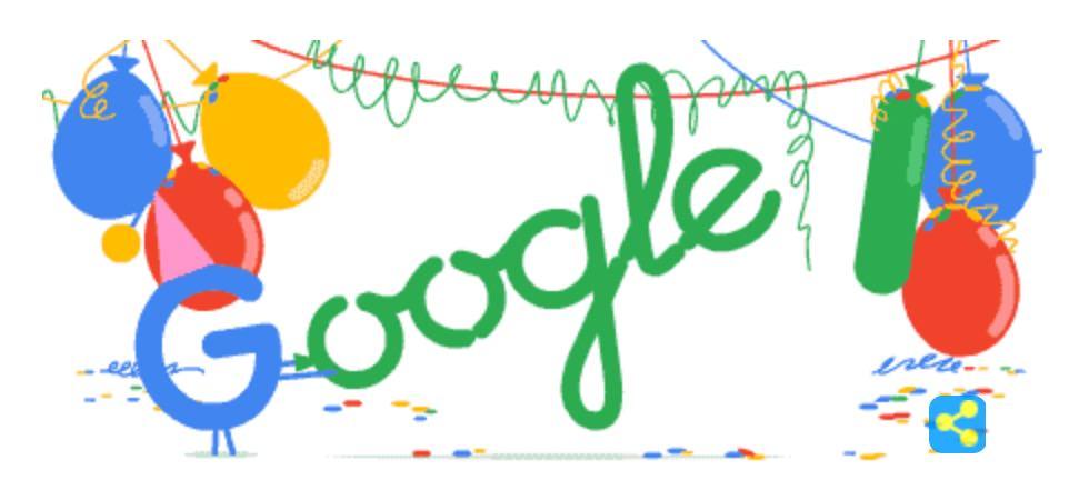 Googleロゴ「Google の創立日」に