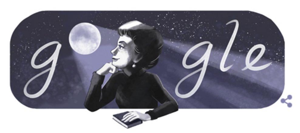 Googleロゴ「ロサリオ カステリャノス」に(詩人)