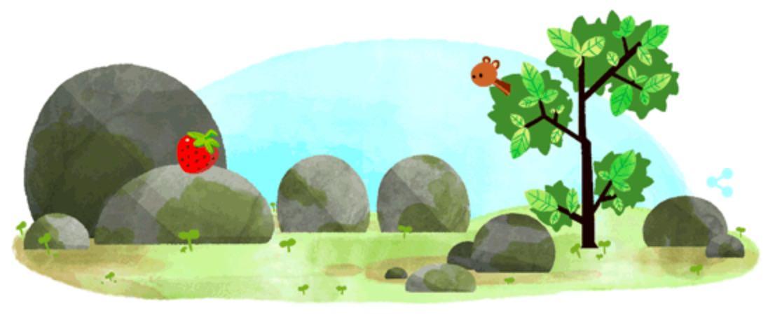 Googleロゴ「夏至」に