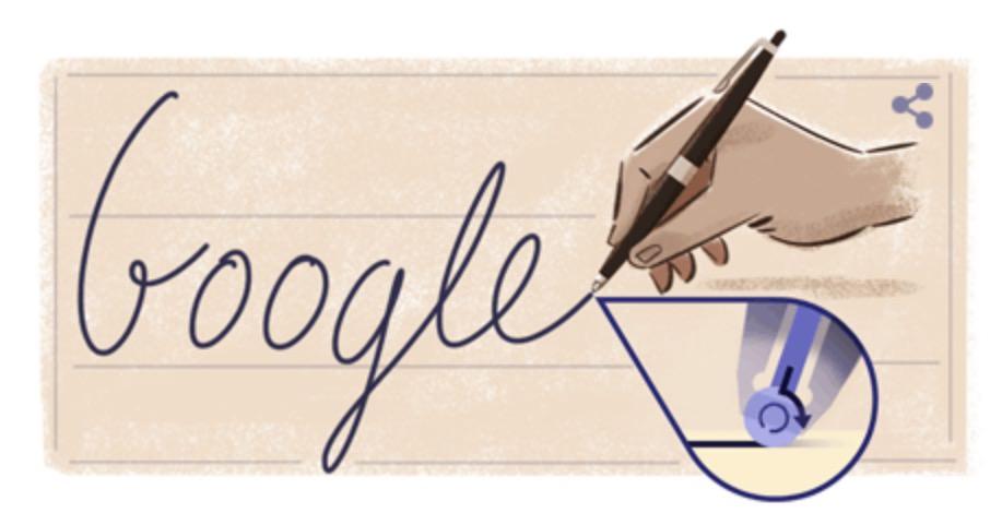 Googleロゴ「ビーロー ラースロー」に 〜ボールペンの発明者