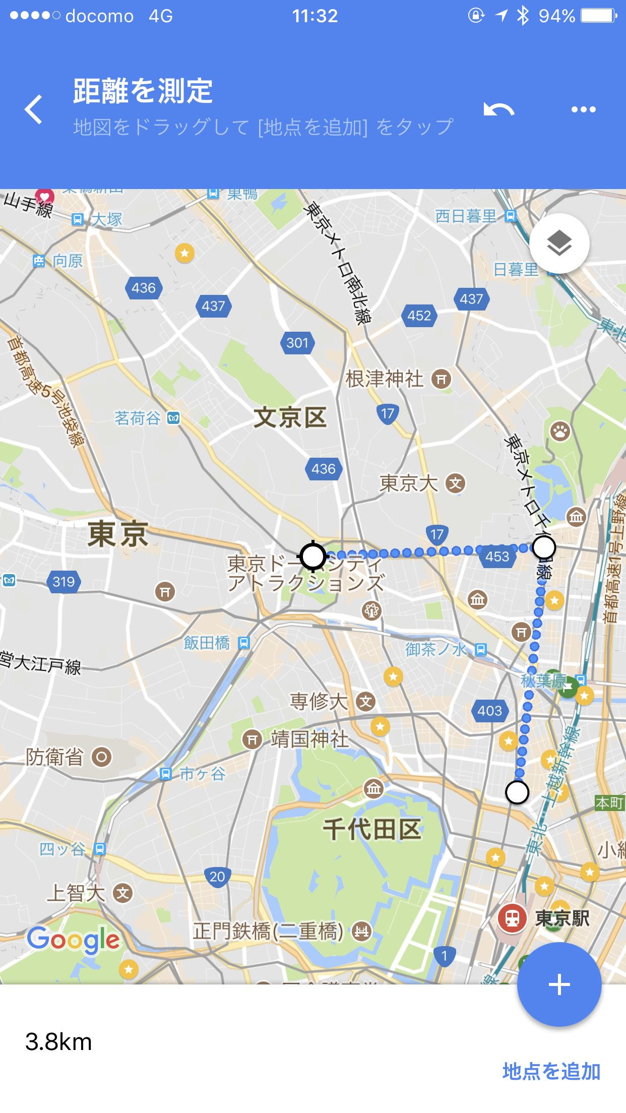 Google map kyori 7420