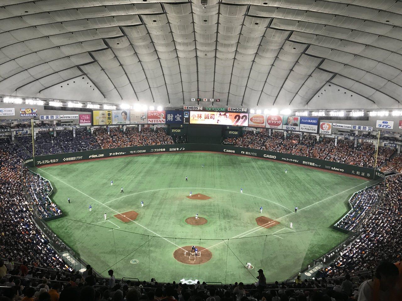 Huluがジャイアンツ戦を生中継している縁で東京ドームで生観戦