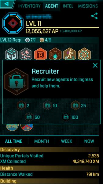 【Ingress】新メダル「Recruiter(リクルーター)」登場