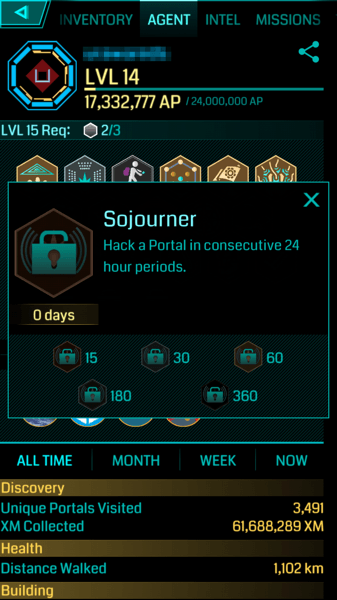 【Ingress】毎日ハックで貰える新メダル「Sojourner(ソジャーナー)」