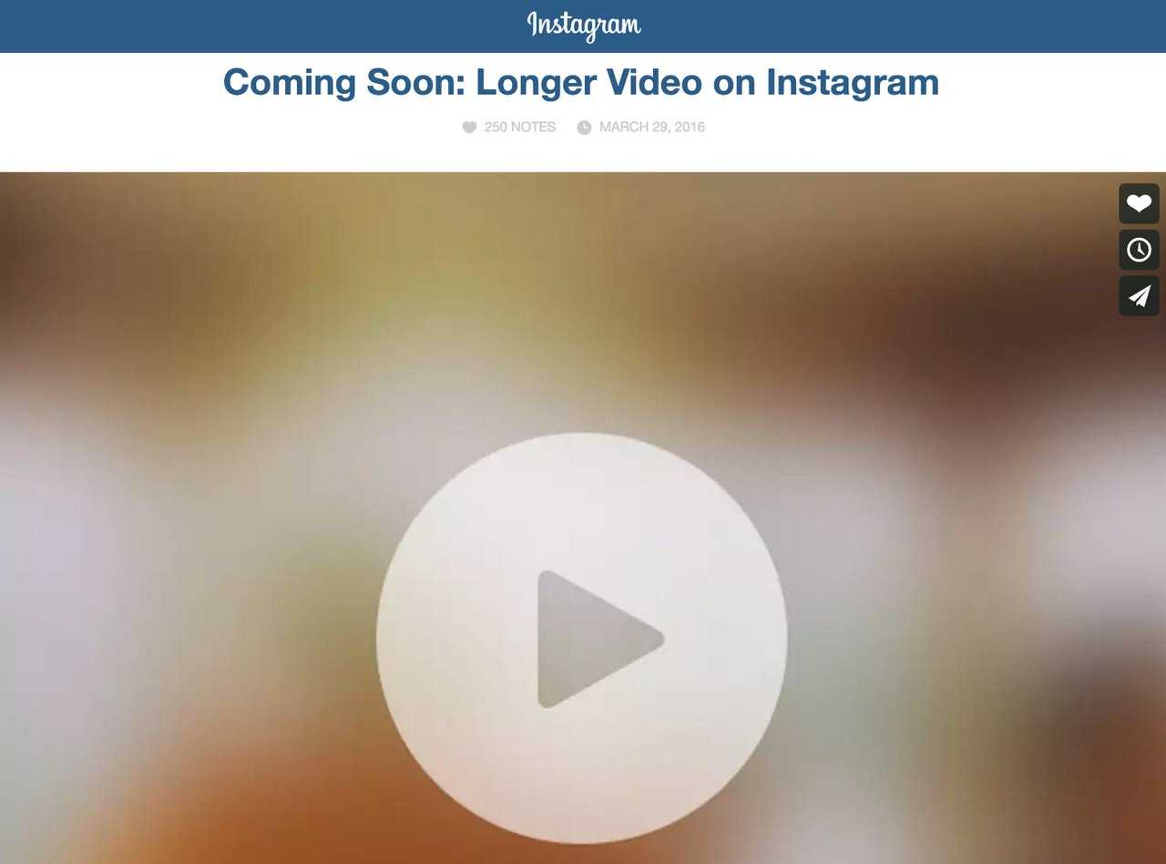 Instagram longer video 1710