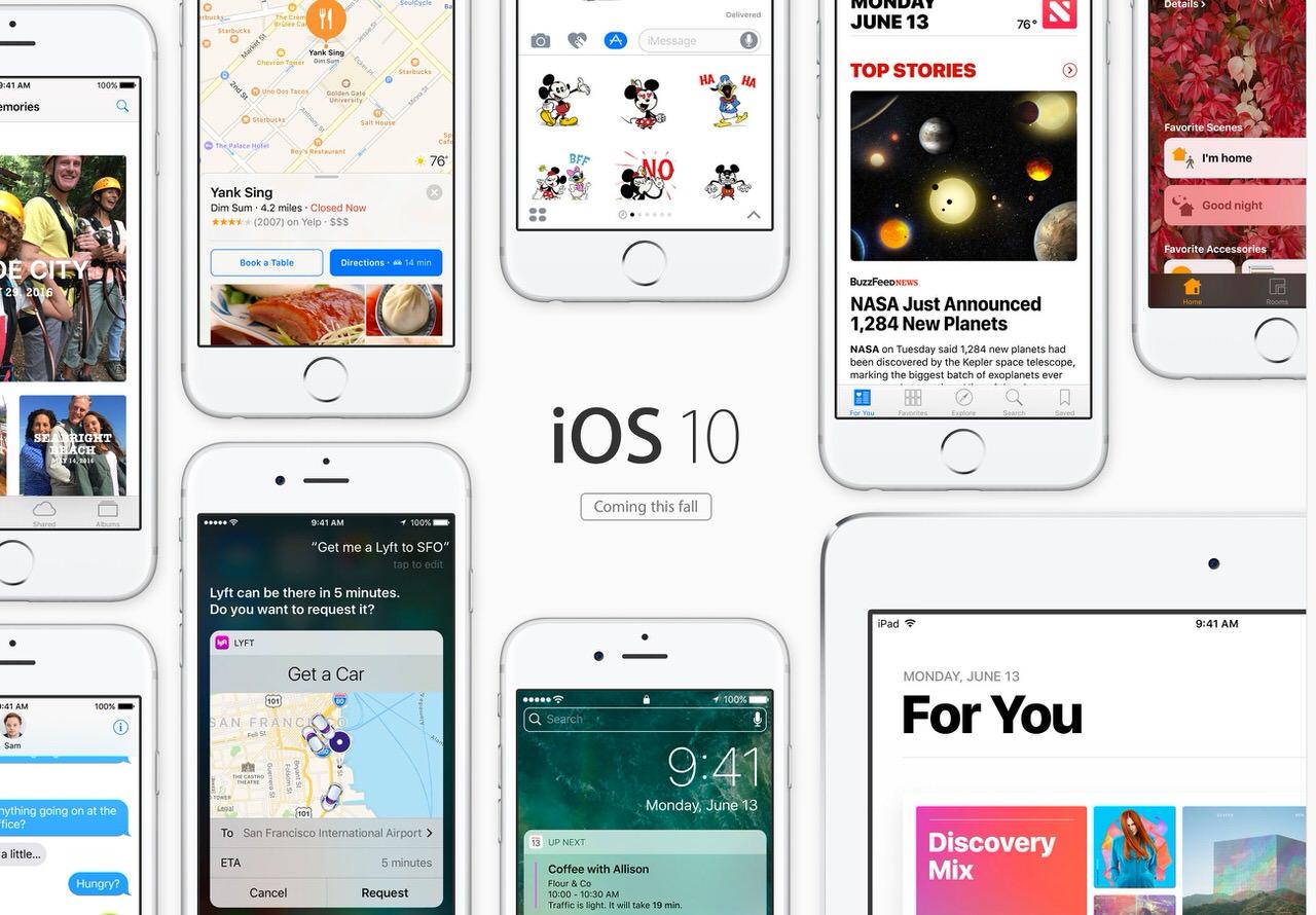 「iOS 10」発表 〜2016年秋にリリース、メッセージが大幅に拡張