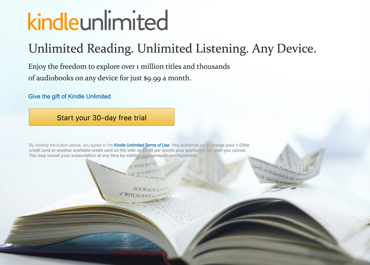 Kindle unlimited 1709 1