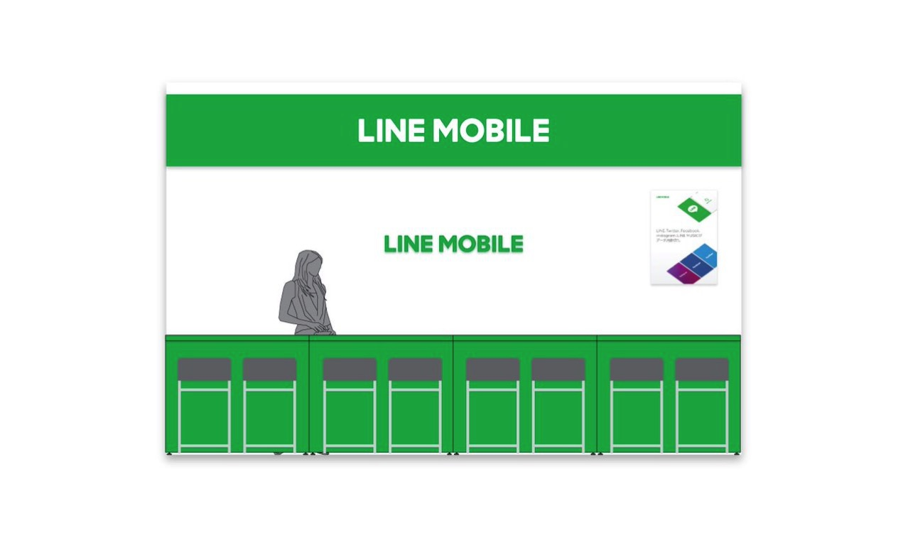 Line mobile counter