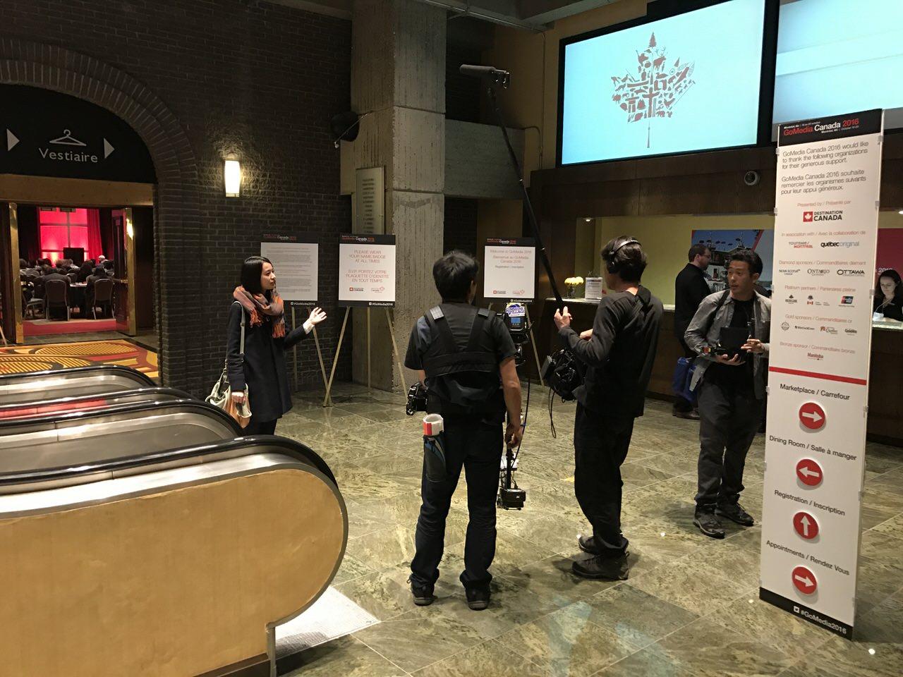 カナダ建国150周年記念ドラマ「モザイク・カナダ」撮影現場に遭遇!女優の安田早紀さんも #GoMedia2016 に参加中