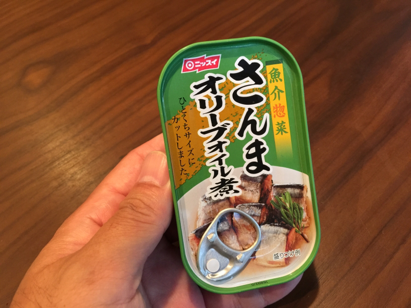 【缶詰】「さんまオリーブオイル煮」追いオリーブオイルタップリでさらに美味し!バーボンハイボールと