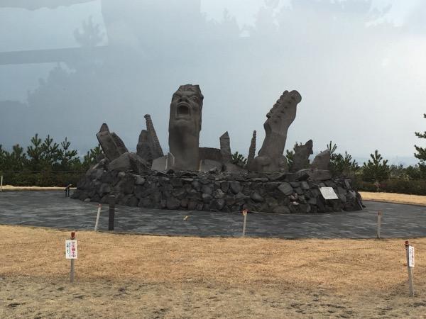 「叫びの肖像」長渕剛・桜島オールナイトコンサートのモニュメント