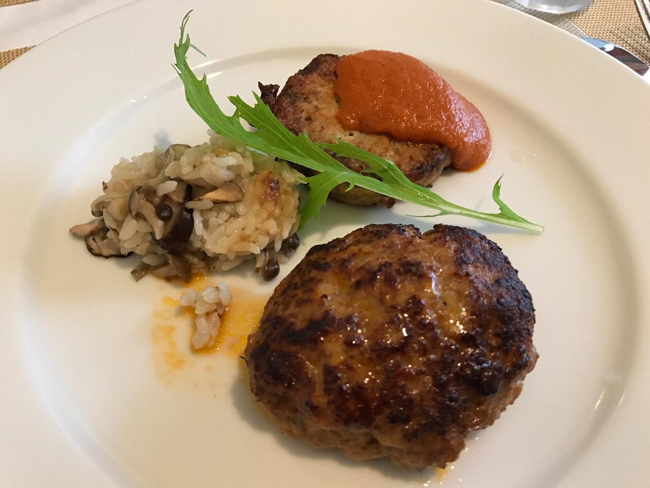 「ノブレス・オブリージュ(人形町)」貴闘力がオーナーの隠れ家フレンチレストランでランチ → ハンバーグが美味い!