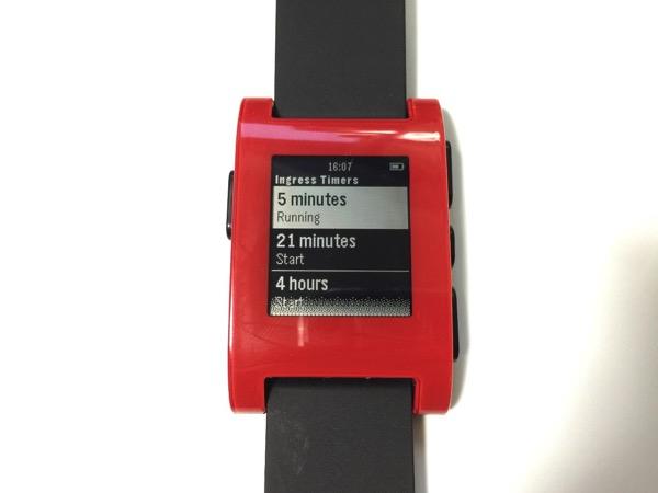 【Pebble】「Ingress Timer」Ingressのハック間隔を計るアプリ